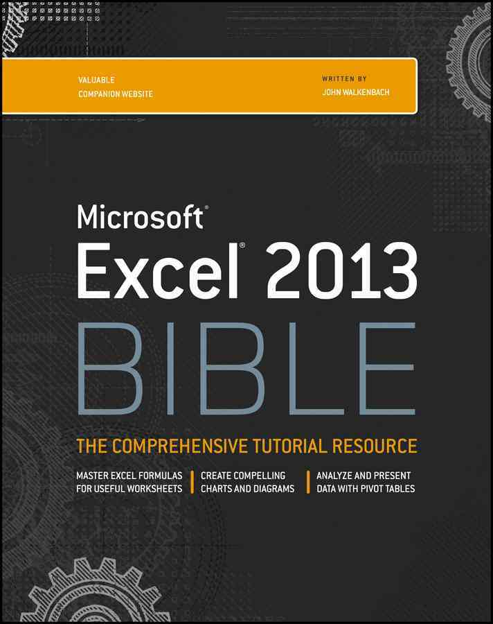 Excel 2013 Bible By Walkenbach, John
